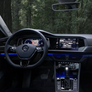 Front dash of the 2019 Volkswagen Jetta
