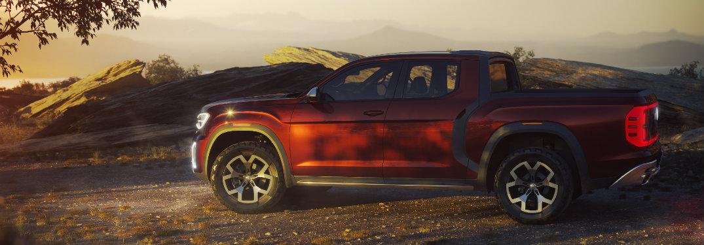 side view of the 2018 Volkswagen Atlas Tanoak truck concept