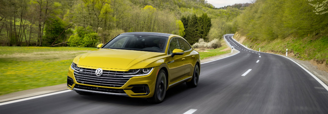 2019 Volkswagen Arteon R-Line driving on a curving road