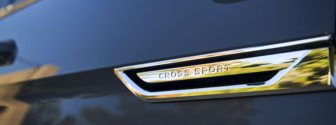 A photo of the Cross Sport badge used by the Volkswagen Atlas Cross Sport.