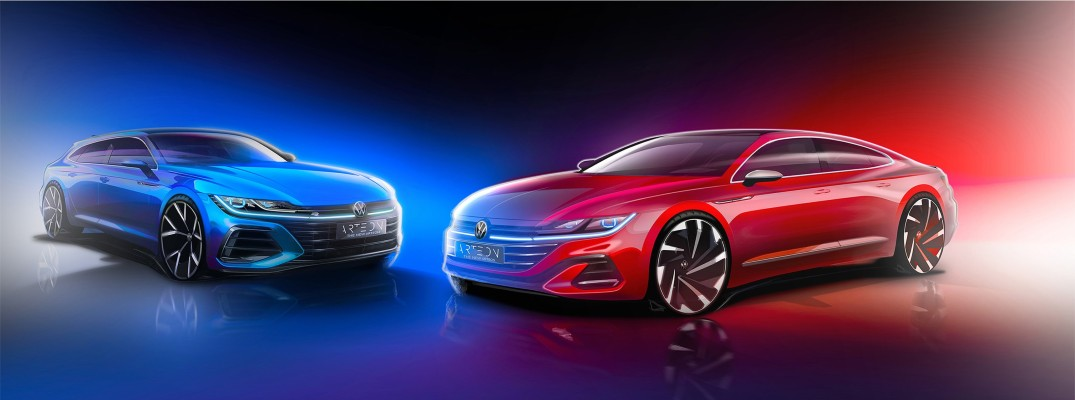 An artist's rendering of the new Arteon models coming later this year.