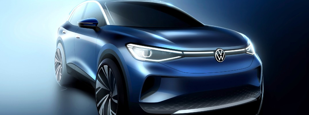 An illustration of a future Volkswagen EV that could be coming to the United States.