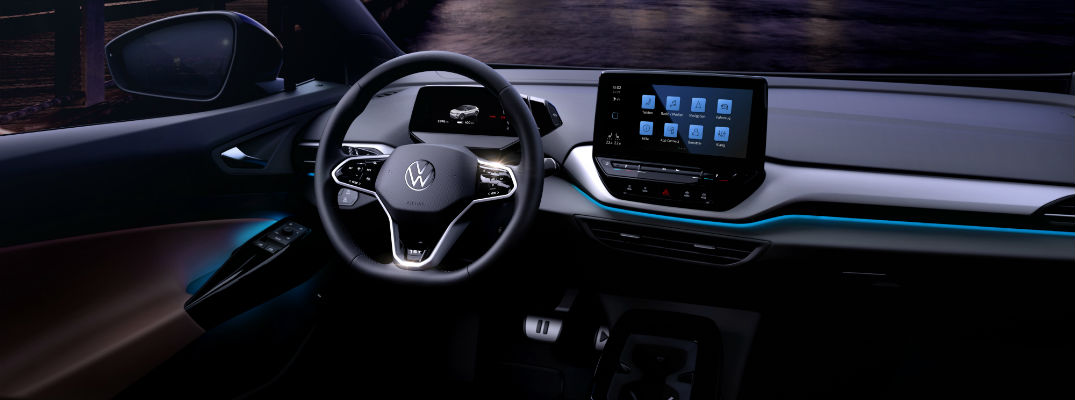 A photo of the driver's cockpit in the Volkswagen ID.4.