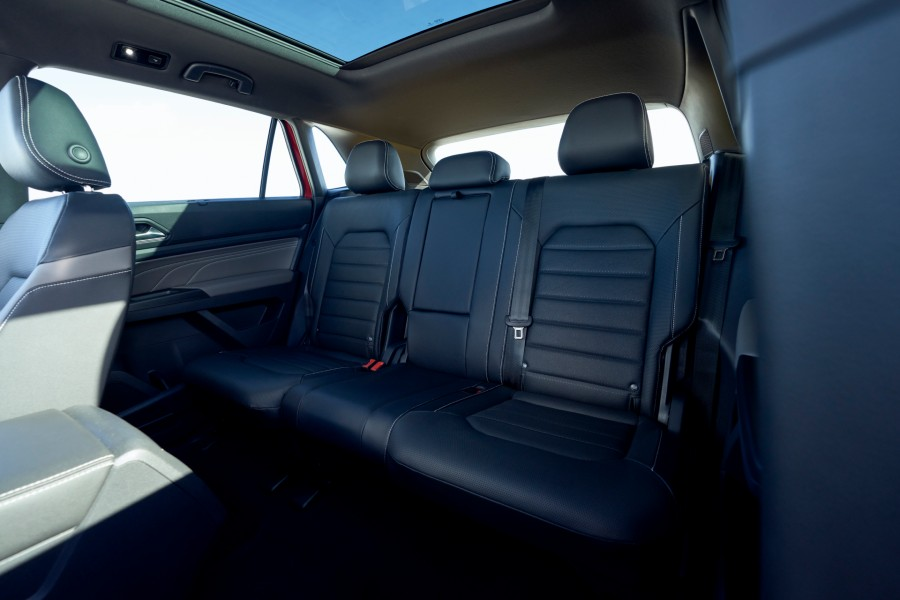 A photo of the back seat in the 2021 Volkswagen Atlas Cross Sport.