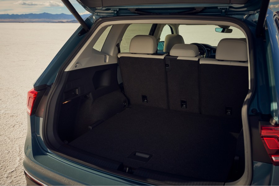 A photo of the cargo area in the 2021 Volkswagen Tiguan.
