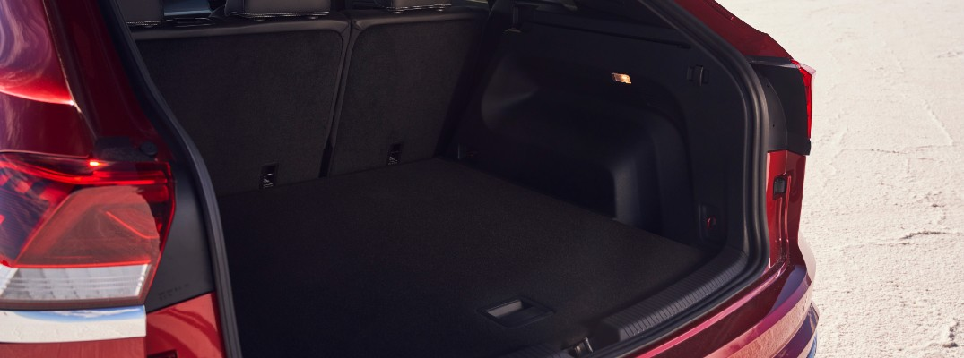 A photo of the cargo area in the back of the 2021 VW Atlas Cross Sport.