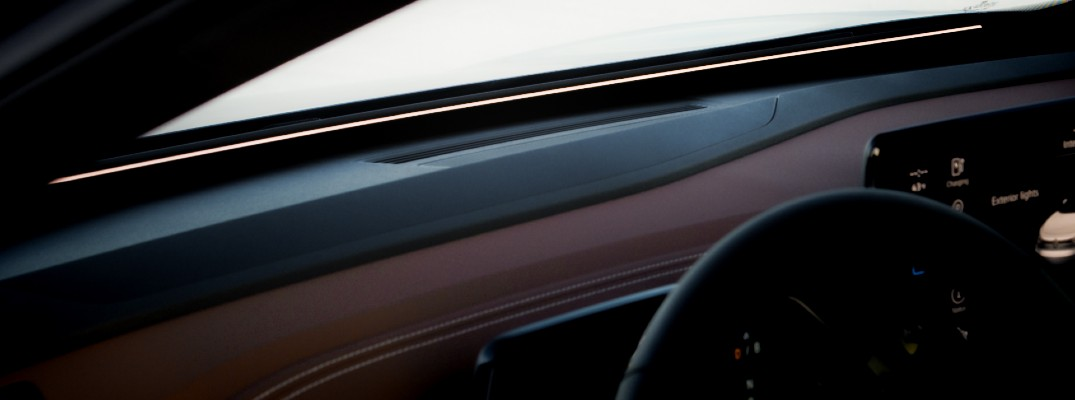 A photo of the ID.Light system in the Volkswagen ID.4.