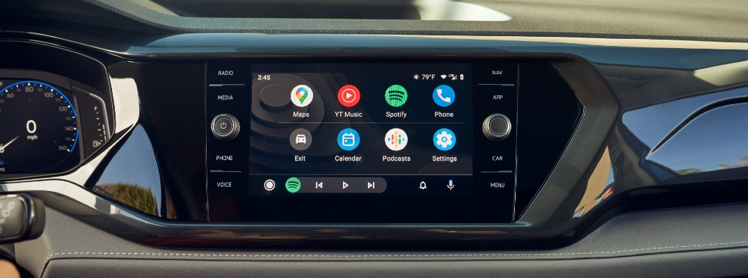 The touchscreen used by the 2022 Volkswagen Taos.