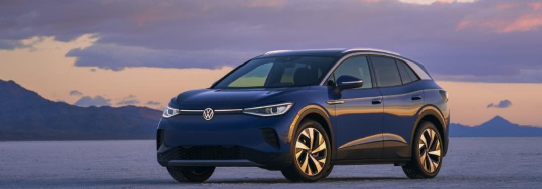 2021 Volkswagen ID.4 standing in front of hills