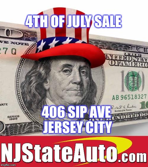 4TH OF JULY SALE -- NJ State Auto Used Car Dealer