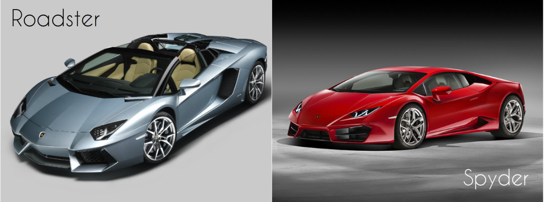 Lamborghini Roadster and Spyder Comparison