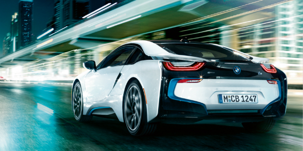 Efficiency and Performance of the 2017 BMW i8 White