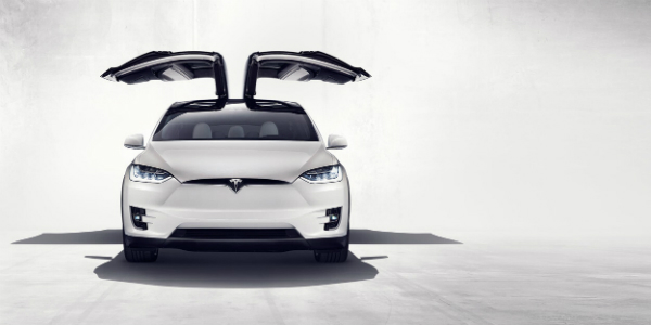 Self-Driving Features on the Tesla Model X Falcon Wings