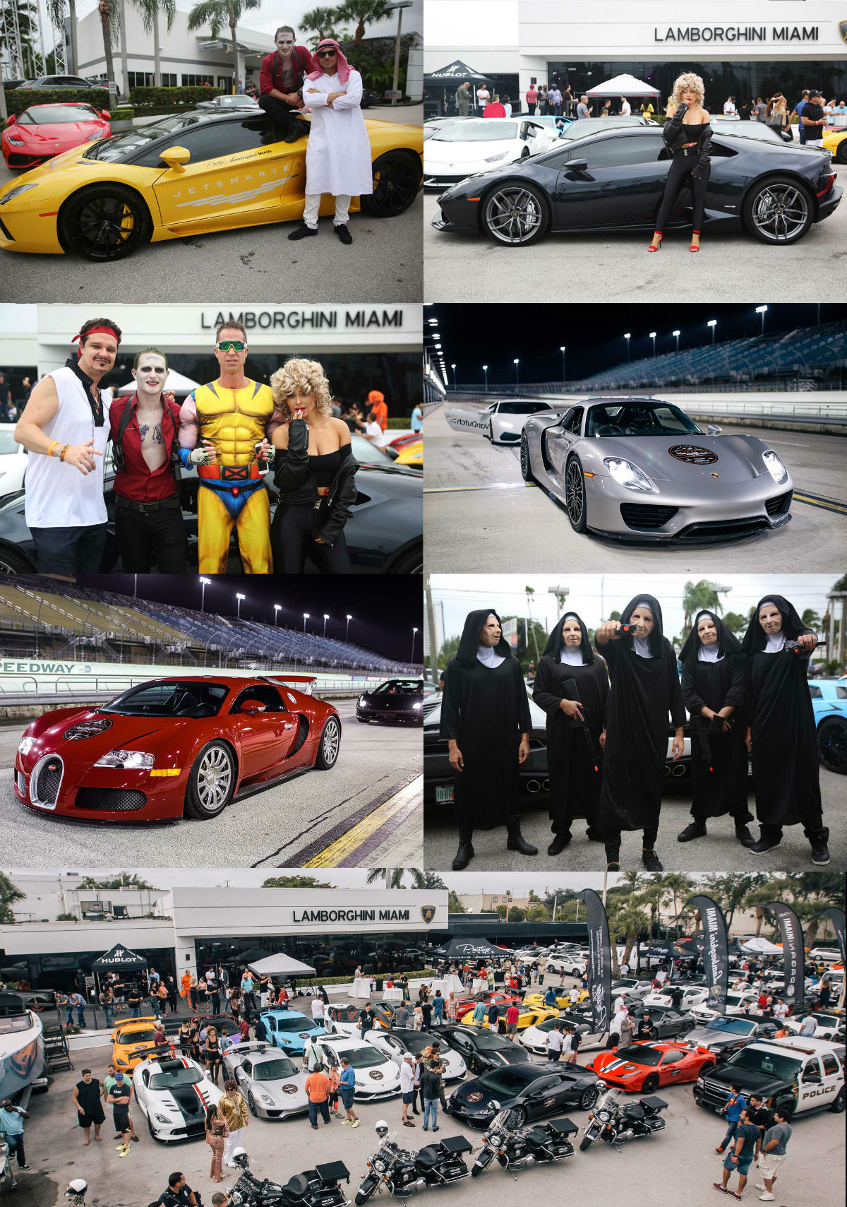 Photo Collage from Prestige Imports 2016 Halloween Super Car Run Miami FL_d