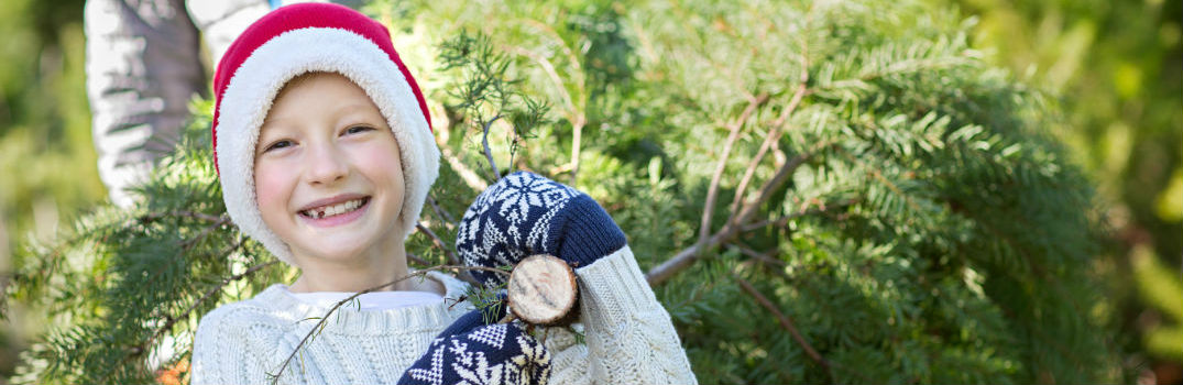 Boy at Christmas Tree Farm