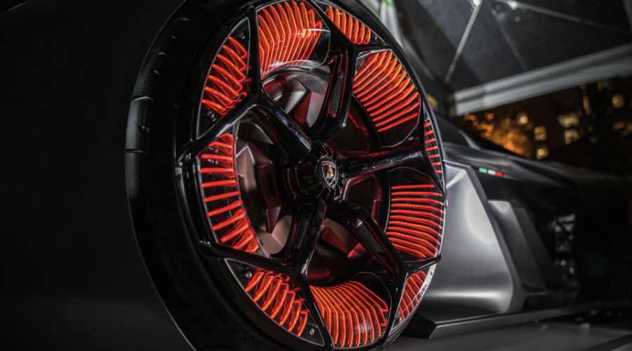 Lamborghini Terzo Millennio Concept Car Exterior High Tech Wheels