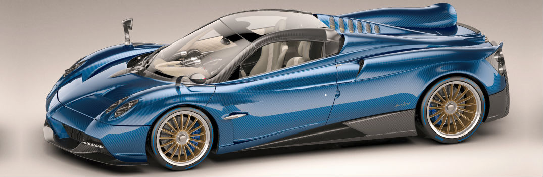 Pagani Huayra Roadster Exterior Front Driver Side Profile