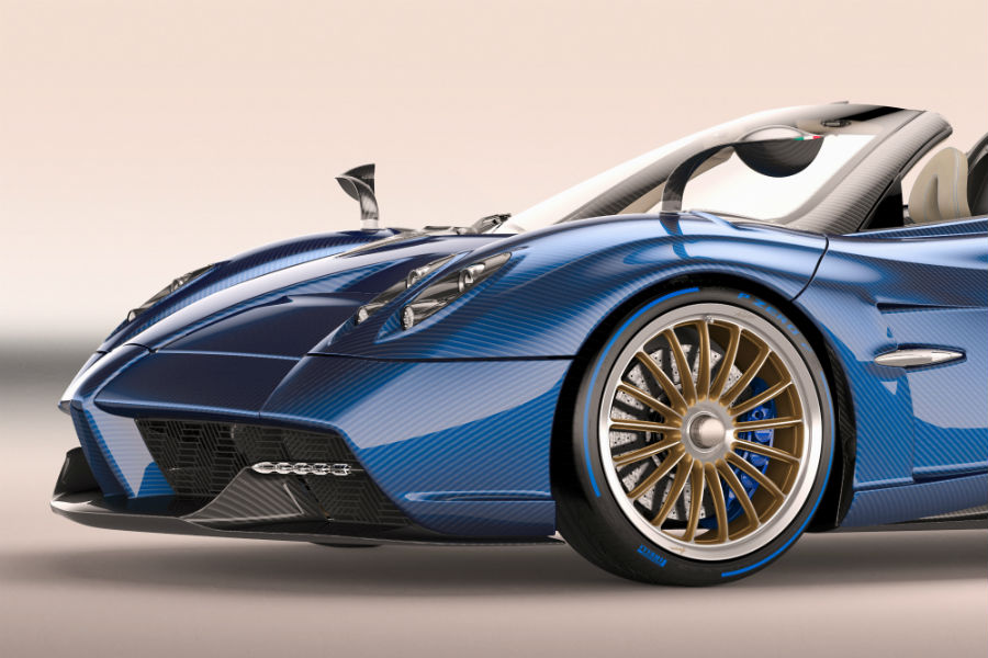 Pagani Huayra Roadster on Display for 2017 Art Basel