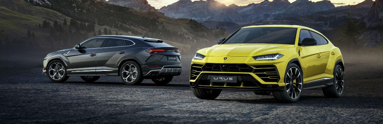 2018 Lamborghini Urus Exterior Driver Side Front and Rear Profiles