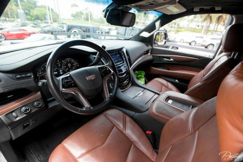2015 Cadillac Escalade ESV Premium Limo Interior Driver Seating Area