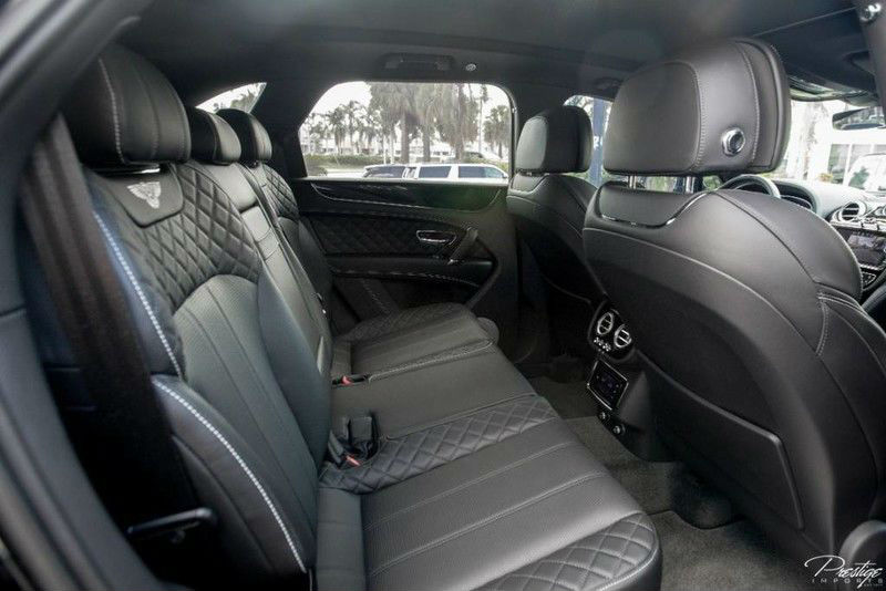 2017 Bentayga Interior Rear Seats