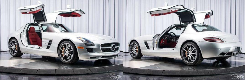 2011 Mercedes-Benz SLS AMG Exterior Passenger Side Front Driver Side Rear Doors Open