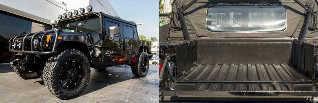 2006 Hummer H1 Alpha Exterior Driver Side Front Profile and Rear Truck Bed