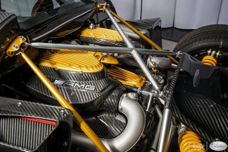 2016 Pagani Huayra Interior Engine Bay