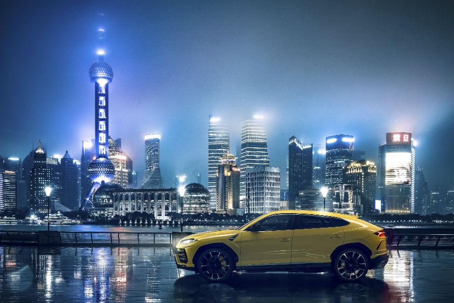 2018 Lamborghini Urus Exterior in Shanghai