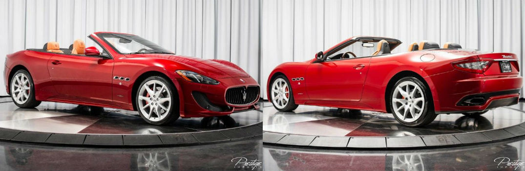 2017 Maserati GranTurismo Convertible Sport Exterior Passenger Side Front Driver Side Rear Top Down