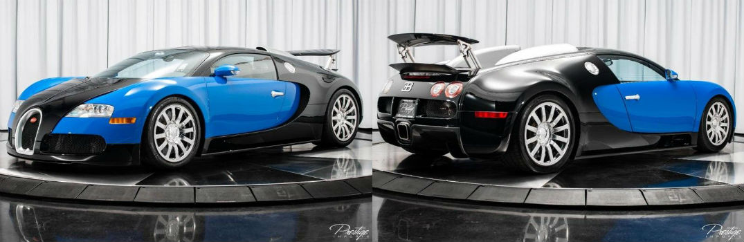 2010 Bugatti Veyron Exterior Driver Side Front Passenger Side Rear Profiles
