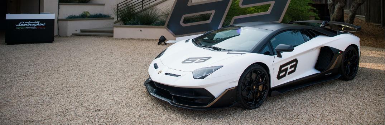2019 Lamborghini Aventador SVJ White Exterior Driver Side Front Profile