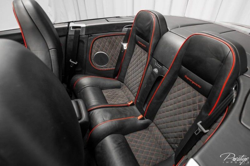 2013 Bentley Continental Supersports ISR Interior Cabin Rear Seating