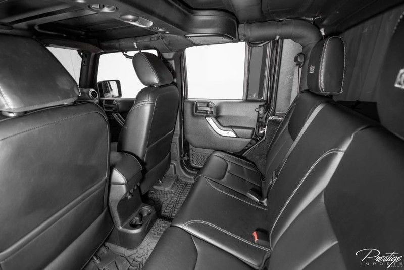 2016 Jeep Wrangler Unlimited Rubicon AEV Brute Interior Cabin Rear Seating