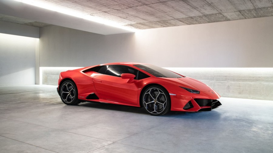 2020-Lamborghini-Huracan-EVO-Exterior-Passenger-Side-Front-Profile