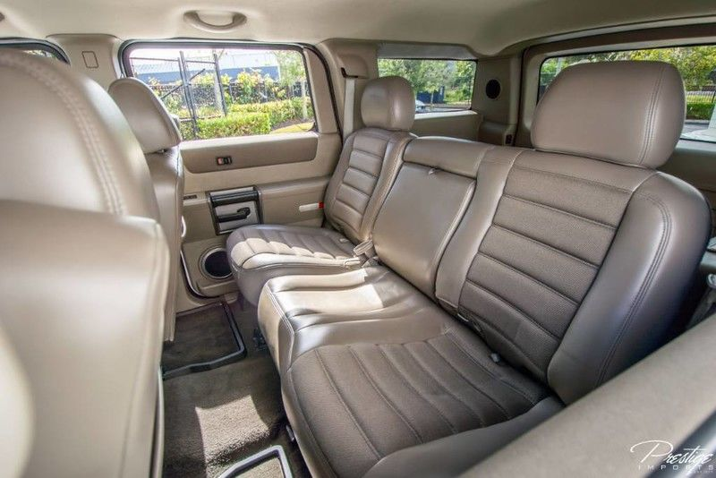 Custom 2003 HUMMER H2 Interior Cabin Rear Seating