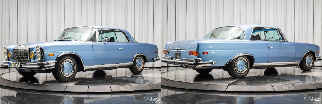 1970 Mercedes-Benz 280 SE Coupe 3.5 Exterior Driver Side Front Profile