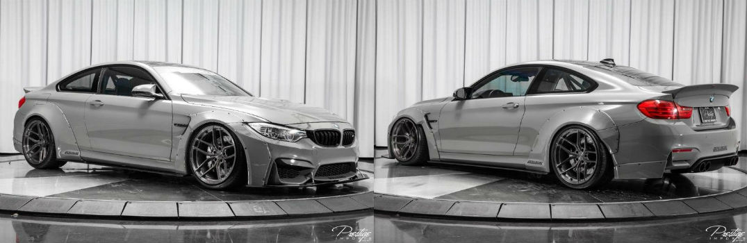 2015 BMW M4 Liberty Walk Exterior Passenger Side Front Driver Side Rear Profiles