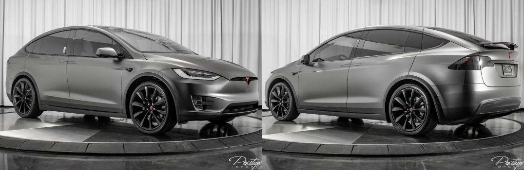 2017 Tesla Model X 75D Exterior Passenger Side Front Driver Side Rear Profiles