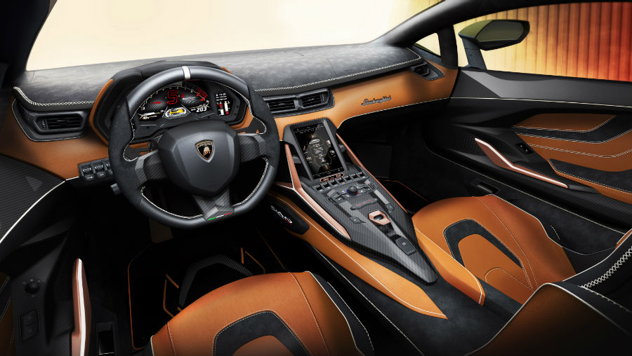 Lamborghini Sian Interior Cabin Dashboard Seating