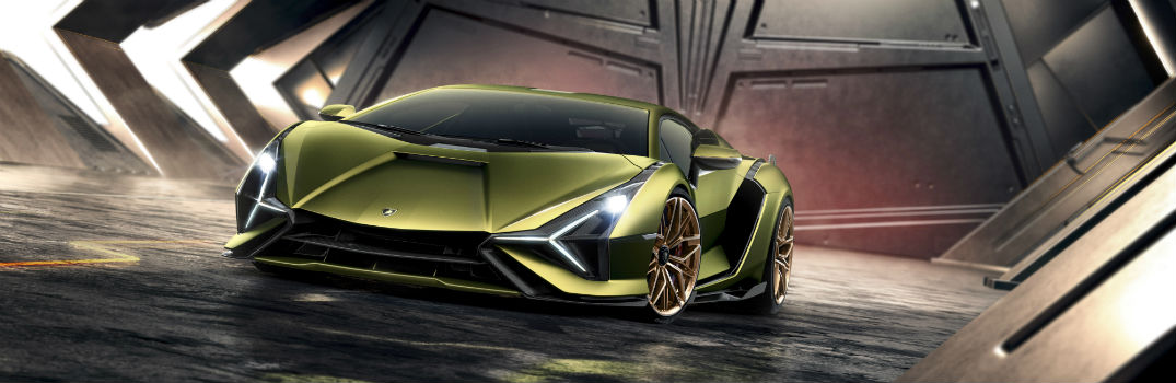 Lamborghini Sian Limited Edition Hybrid Super Sports Car Exterior Driver Side Front Angle