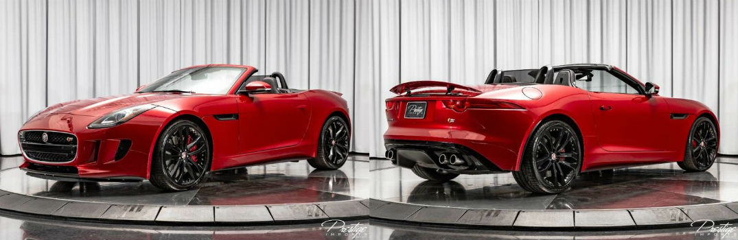 2015 Jaguar F-TYPE V8 S Exterior Driver Side Front Passenger Rear Profiles