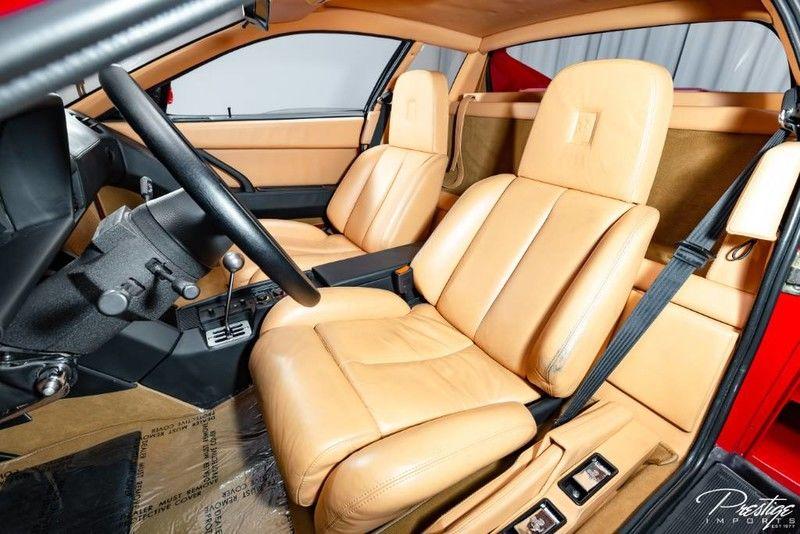 1987 Ferrari Testarossa Interior Cabin Seating