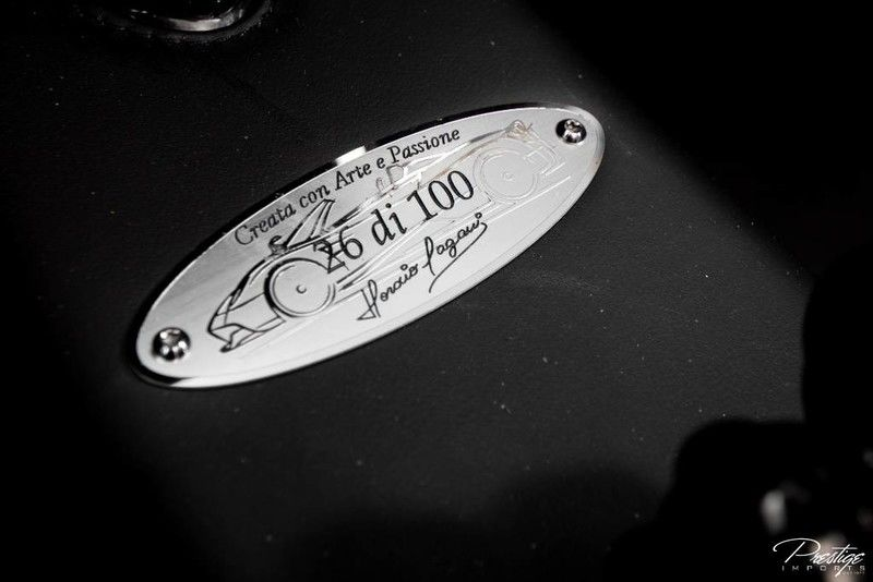 2017 Pagani Huayra Roadster Number Badge