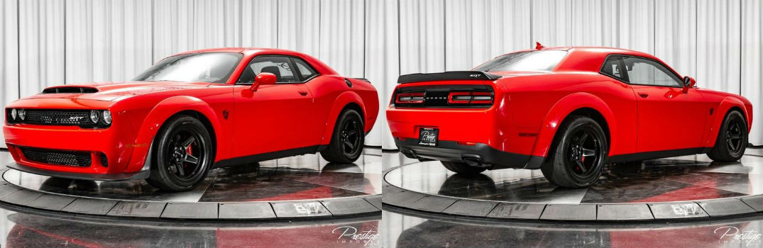 2018 Dodge Challenger SRT Demon Exterior Driver Side Front Passenger Rear Profiles