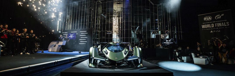 Lamborghini Lambo V12 Vision Gran Turismo Concept Car on Stage