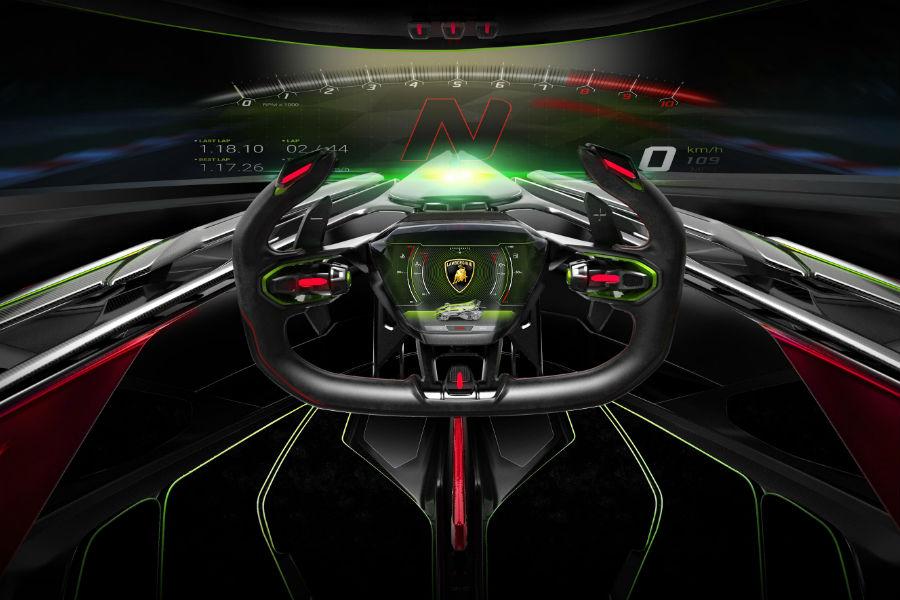 Lamborghini Lambo V12 Vision Gran Turismo Interior Cabin Dashboard