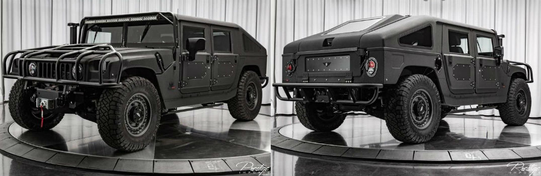 2018 Hummer H1 Mil-Spec Automotive Exterior Driver Side Front Passenger Rear Profiles