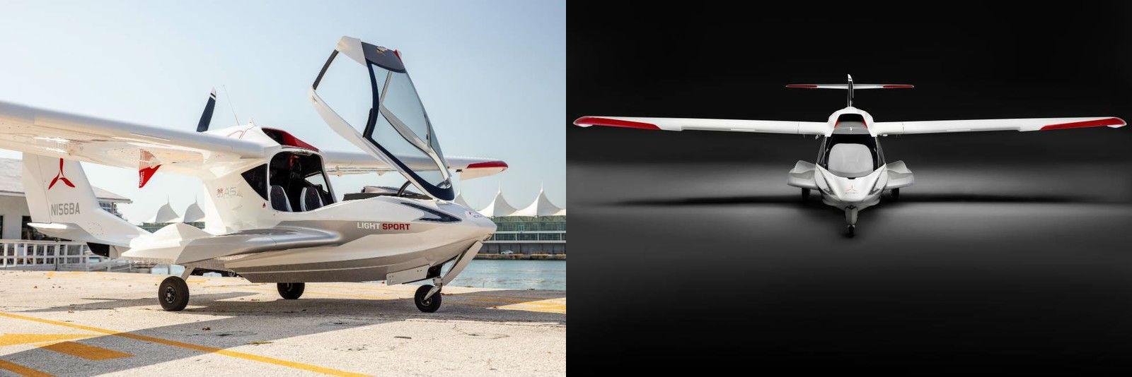 2019 ICON A5 Aircraft Exterior Passenger Side Front Profile & Front View
