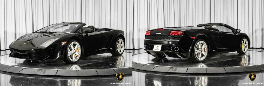 2010 Lamborghini Gallardo Spyder For Sale North Miami Beach FL